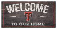 """Texas Tech Red Raiders 6"""" x 12"""" Welcome Sign"""