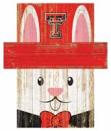"Texas Tech Red Raiders 6"" x 5"" Easter Bunny Head"