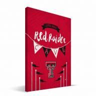 """Texas Tech Red Raiders 8"""" x 12"""" Little Man Canvas Print"""