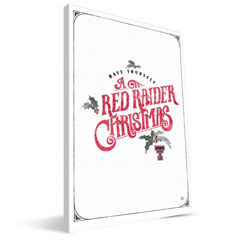 "Texas Tech Red Raiders 8"" x 12"" Merry Little Christmas Canvas Print"