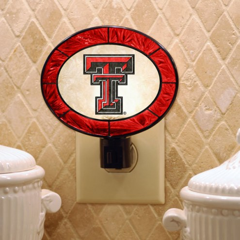 Texas Tech Red Raiders Art Glass Night Light