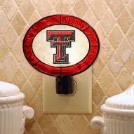 Texas Tech Red Raiders Art Glass Night Light