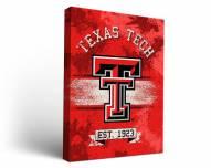 Texas Tech Red Raiders Banner Canvas Wall Art