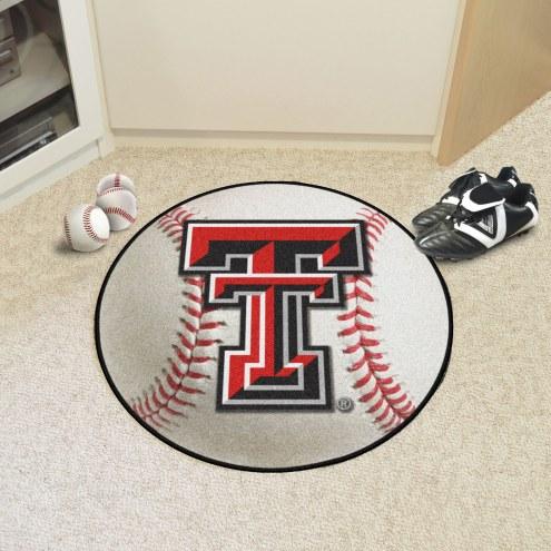 Texas Tech Red Raiders Baseball Rug