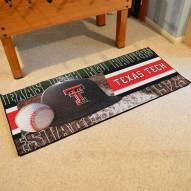 Texas Tech Red Raiders Baseball Runner Rug