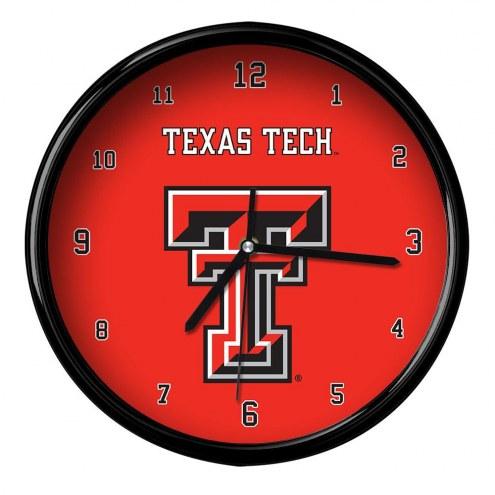 Texas Tech Red Raiders Black Rim Clock