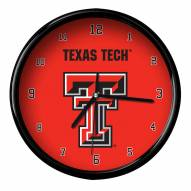 Texas Tech Red Raiders Black Rim Clock