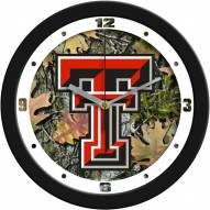 Texas Tech Red Raiders Camo Wall Clock