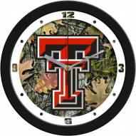 Texas Tech Red Raiders Camo Wall Clock