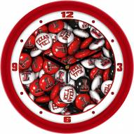 Texas Tech Red Raiders Candy Wall Clock