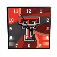 Texas Tech Red Raiders Carbon Fiber Square Clock