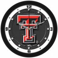 Texas Tech Red Raiders Carbon Fiber Wall Clock