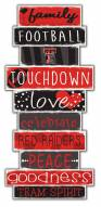 Texas Tech Red Raiders Celebrations Stack Sign
