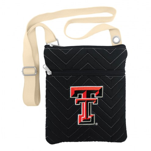Texas Tech Red Raiders Chevron Stitch Crossbody Bag