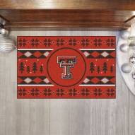 Texas Tech Red Raiders Christmas Sweater Starter Rug