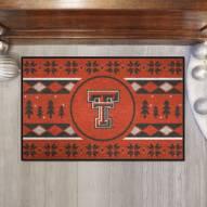 Texas Tech Red Raiders Christmas Sweater Starter Rug