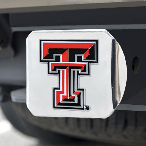 Texas Tech Red Raiders Chrome Color Hitch Cover