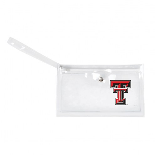 Texas Tech Red Raiders Clear Ticket Wristlet