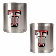 Texas Tech Red Raiders College Stainless Steel Can Holder 2-Piece Set