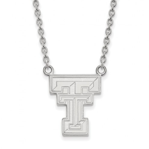 Texas Tech Red Raiders Sterling Silver Large Pendant Necklace