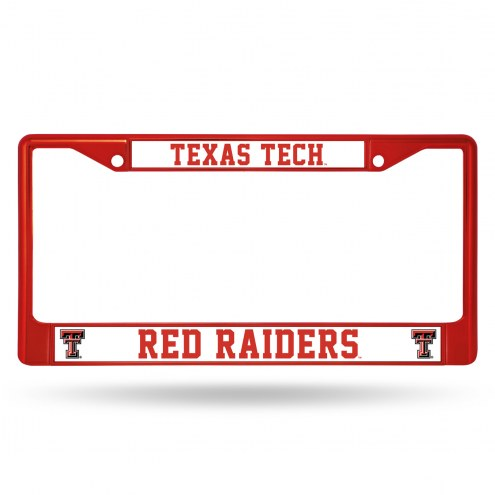Texas Tech Red Raiders Color Metal License Plate Frame