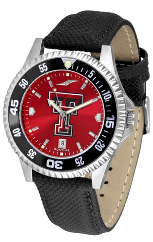 Texas Tech Red Raiders Competitor AnoChrome Men's Watch - Color Bezel