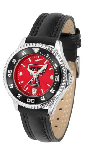 Texas Tech Red Raiders Competitor AnoChrome Women's Watch - Color Bezel