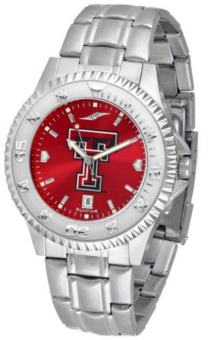 Texas Tech Red Raiders Competitor Steel AnoChrome Men's Watch
