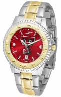 Texas Tech Red Raiders Competitor Two-Tone AnoChrome Men's Watch