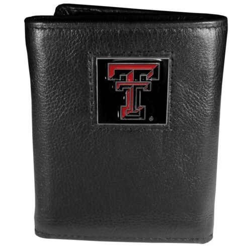 Texas Tech Red Raiders Deluxe Leather Tri-fold Wallet