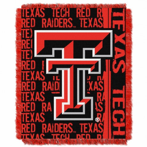 Texas Tech Red Raiders Double Play Woven Throw Blanket