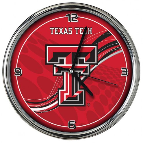 Texas Tech Red Raiders Dynamic Chrome Clock