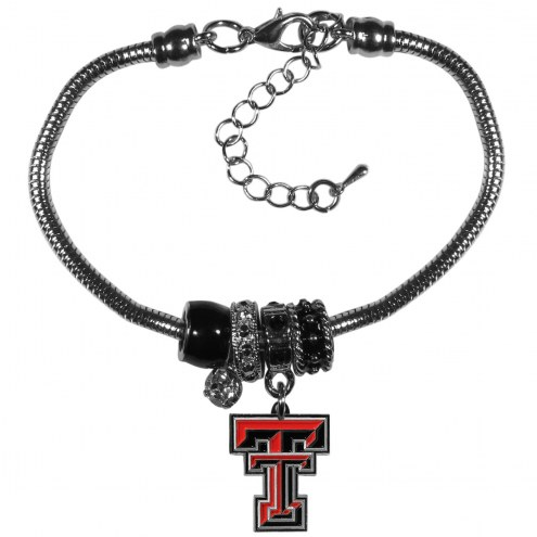 Texas Tech Red Raiders Euro Bead Bracelet