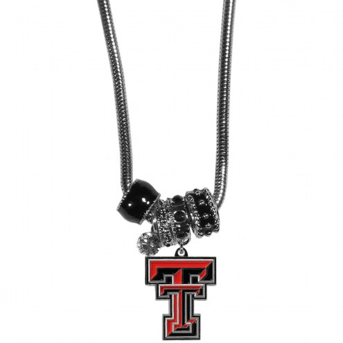 Texas Tech Red Raiders Euro Bead Necklace