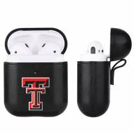 Texas Tech Red Raiders Fan Brander Apple Air Pods Leather Case