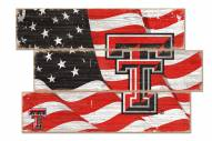 Texas Tech Red Raiders Flag 3 Plank Sign