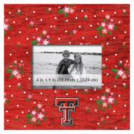 "Texas Tech Red Raiders Floral 10"" x 10"" Picture Frame"
