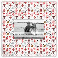 "Texas Tech Red Raiders Floral Pattern 10"" x 10"" Picture Frame"