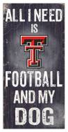 Texas Tech Red Raiders Football & My Dog Sign