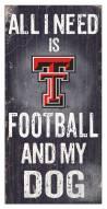 Texas Tech Red Raiders Football & My Dog Sign