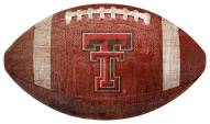 Texas Tech Red Raiders Football Shaped Sign