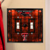 Texas Tech Red Raiders Glass Double Switch Plate Cover