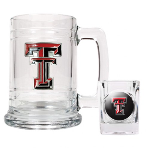 Texas Tech Red Raiders Glass Mug & Shot Glass Set