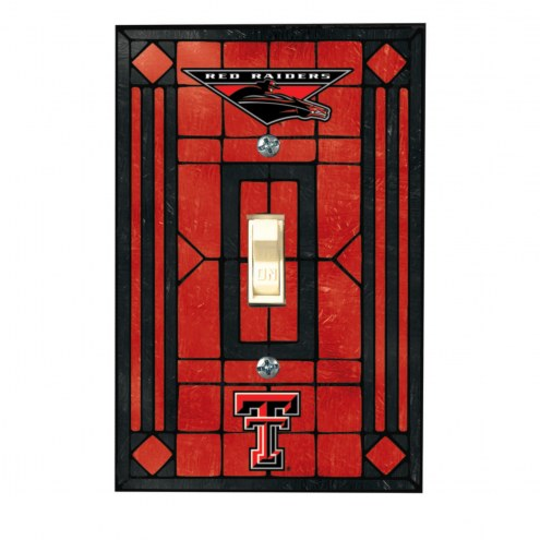 Texas Tech Red Raiders Glass Single Light Switch Plate Cover