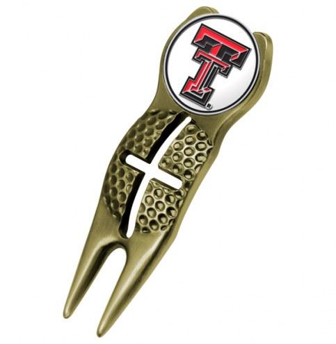 Texas Tech Red Raiders Gold Crosshairs Divot Tool