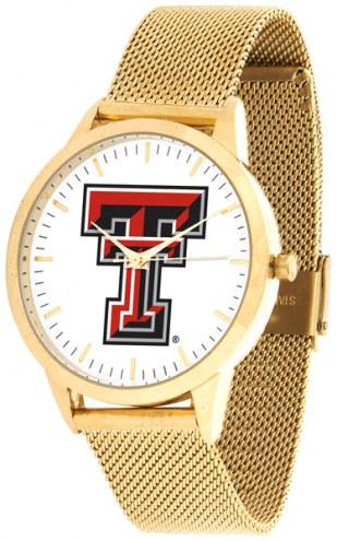Texas Tech Red Raiders Gold Mesh Statement Watch