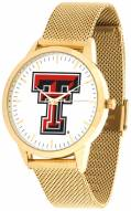 Texas Tech Red Raiders Gold Mesh Statement Watch