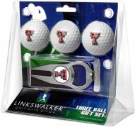 Texas Tech Red Raiders Golf Ball Gift Pack with Hat Trick Divot Tool