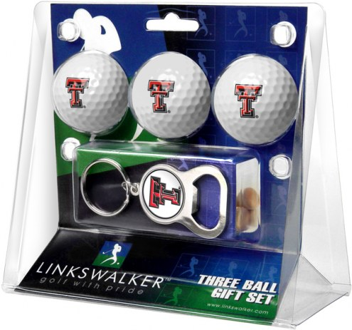 Texas Tech Red Raiders Golf Ball Gift Pack with Key Chain