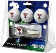 Texas Tech Red Raiders Golf Ball Gift Pack with Kool Tool